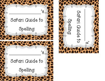 Safari Guide to Spelling Book Student Interactive Notebook Label
