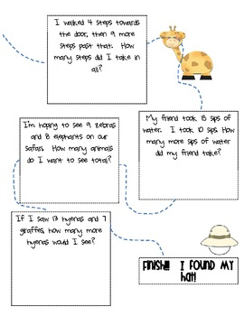 Addition and Subtraction Word Problems: Safari Hunt