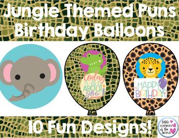 Safari Jungle Animals Birthday Balloons