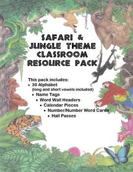 Safari / Jungle Classroom Pack