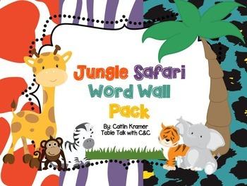 Jungle Safari Dolch Word Wall Pack {Editable}