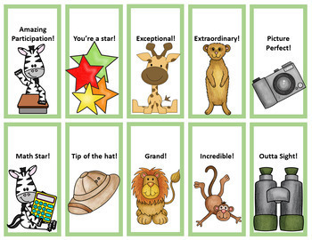 Safari - Jungle Theme: Brag Tags