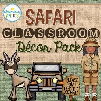 Safari Jungle Theme Classroom Decor {Editable}