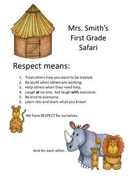 Safari - Jungle Theme: Respect & Responsibilities