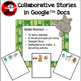 Safari - Jungle Theme visual writing prompts in Google Docs