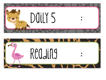 Safari | Jungle Themed Daily Schedule