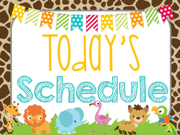 Safari | Jungle Themed Daily Schedule