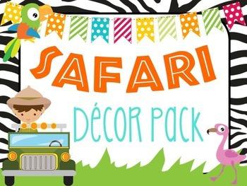 Safari   Jungle Themed Decor Pack!