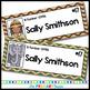 Safari Jungle Themed Editable Classroom Name Tags