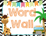 Safari   Jungle Themed Word Wall {K-1 High Frequency Words included}