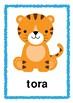 Safari/ Jungle/ Zoo Animal *Flash cards* Japanese