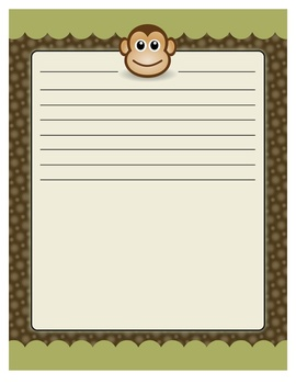 Safari, Jungle, and Monkey Theme Paper (Elementary or Middle)