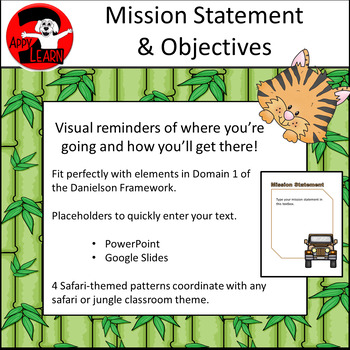 Safari / Jungle theme - Mission Statement & Objectives