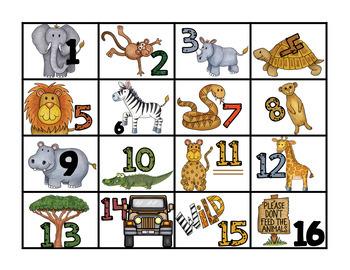 Safari / Jungle theme Summer Countdown:  Count down the days left!