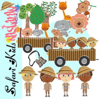 Safari Kids Clipart