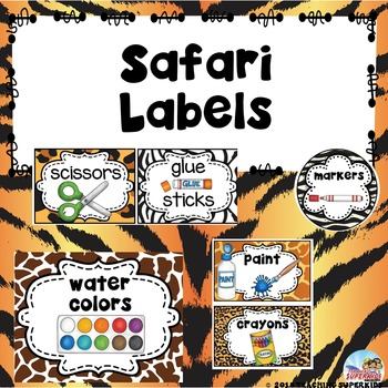 Safari Labels Custom Order for Mindy C.