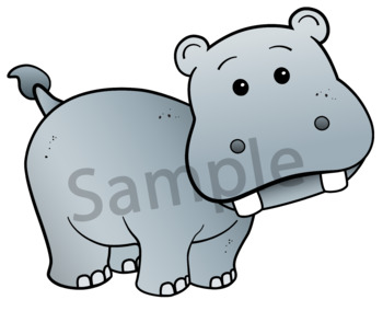 Safari Learning. Clipart. BLACK AND WHITE & Color Bundle. {Lilly Silly Billy}