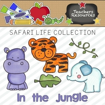 Safari Life Clipart Collection || Commercial Use Allowed