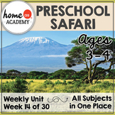 Safari Life - Weekly Preschool Curriculum Unit for Preschool, PreK or Homeschool
