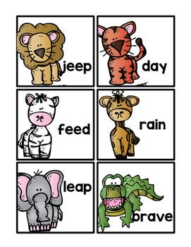 Safari Long Vowels *FREEBIE*