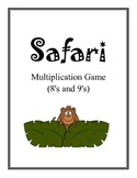 Safari: Math Multiplication Board Game (Multiply with 8's and 9's)