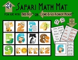 Safari Math and Coding Mat for Bee-Bot or Code & Go Robot Mouse