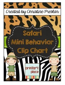 Safari Mini Behavior Clip Chart