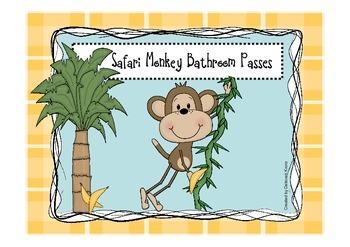 Safari Monkey Bathroom Pass