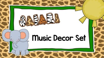 Safari Music Classroom Decor Set