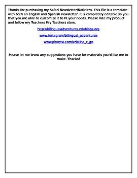 Safari Newsletter