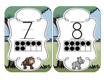 Safari Number Cards 1-20