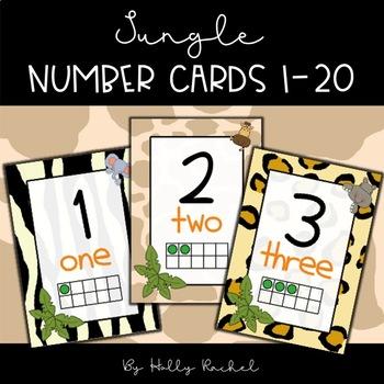 Jungle / Safari Number Cards 1 to 20