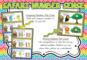 Safari Number Sense Math Centres!