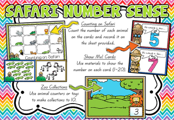 #Ausb2s18 Safari Number Sense Math Centres!