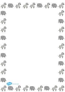 Safari Page Border Images