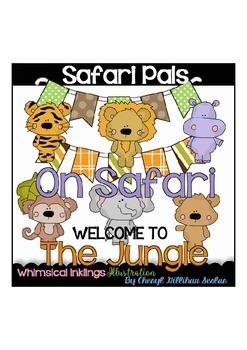 Safari Pals Clipart Collection