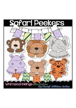 Safari Peekers Clipart Collection