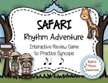 Safari Rhythm Adventure! Interactive Rhythm Practice Game - Syncopa