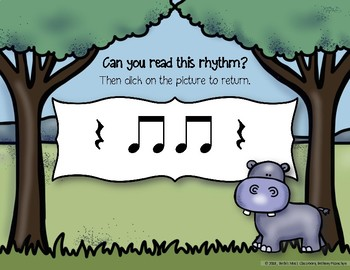 Safari Rhythm Adventure! Interactive Rhythm Practice Game - Ta Rest