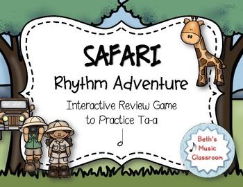 Safari Rhythm Adventure! Interactive Rhythm Practice Game - Ta-a/Half note