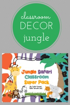 Animal Classroom Super Pack (Editable)