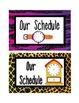 Safari Schedule Cards