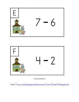 Safari School Subtract the Room (Minuends to 10)