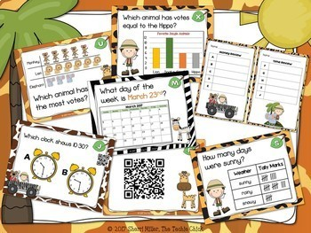 Safari Scoot – Math Skills Review Task Cards