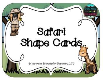 Safari Shape Cards