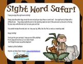 Safari Sight Word Practice