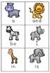 Safari Sight Words