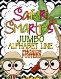 Safari Smarties JUMBO Alphabet Line: A Phonics Poster Set