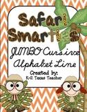 Safari Smarties JUMBO Cursive Alphabet Line: A Phonics Poster Set