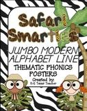 Safari Smarties JUMBO Modern Alphabet Line: A D'nealian Phonics Poster Set